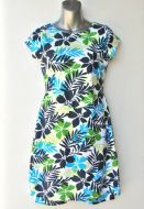 Youth Size 14 - ​ Blue and Green Leaves and Flowers
