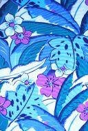 4 yds fabric - Aqua and Pink Hawaiian Flora