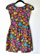 Girls Size 18m - Doodle Hearts on Chocolate Brown