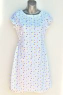 Youth Size 14 -  Multicolored Polka Dots on White
