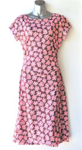 Ladies' Size L - Pink Clematis on Brown