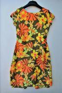 Youth Size 12 - Orange and Olive Hawaiian Print