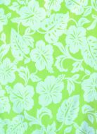 White Hibiscus on Lime Green