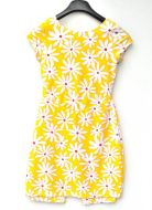 Youth Size 12 - White Daisies on Bright Yellow