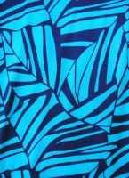 5.5 yds fabric - Abstract Turquoise and Navy Blue