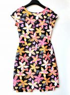 Youth Size 12 - Pink and Orange Floral on Black